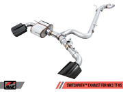 Awe Switchpathandtrade Exhaust Diamond Black Rs-style Tips For 17-19 Audi Mk3 Tt Rs