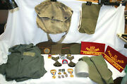 Us Army Wwii, Korean War And Vfw Vintage Items Pins, Medals,clothes + More M4630