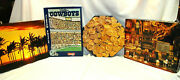 Jigsaw Puzzles Island, Gold, Cowboys And Happy Hours 500+ Pieces Lot Of 4 S9011