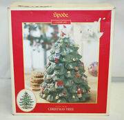 Spode Christmas Tree Figural Cookie Jar 12.5 Tall S3324-a8 In Box  X1196
