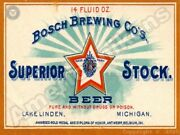 Bosch Brewing Co. Superior Stock Beer New Metal Sign Lake Linden Michigan