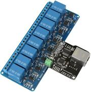 Rj45 Port Ethernet Control Module With 8-channel Relay Lan Wan Network Web Serve