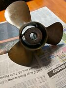 48-53898a3 13 3/4 X 19 Pitch Bronze Propeller Fits Mercury 115 1150 Hp Outboards