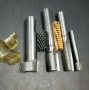 4 New Carbide Straight 2 Flute Cutters 1/4 Radius End Mill Reamer Machinist