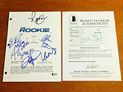 The Rookie Signed Full Pilot Script By 6 Cast Nathan Fillion W/ Beckett Bas Coa