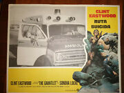 Clint Eastwood The Gauntlet 2 Original 1977 Vintage Lobby Posters In Spanish