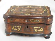 Antique Inlaid Boule Small Box Beautiful As Is