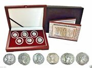 The Most Powerful Roman Womena Collection Of 6 Silver Coins In Beautiful Box