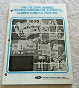 Ford Usa 1990 Pre-delivery Brakes Steering/suspension Electric Climate Book