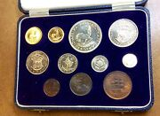 1955 South Africa 1 And 2 Rand .35 Oz Gold And Silver Proof Set Only 600 Mintage