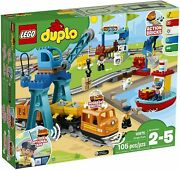 Lego Duplo 10875 Buildable Push And Go Locomotive Cargo Train Lights And Sounds
