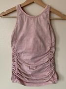 Nux Spellbound Cami Tank Top Small Pink Mineral Wash
