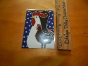 Miniature Dollhouse Room Box Painting/print - David Venne 2011 - Rooster Chicken