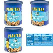 Planters Flavored Peanuts Sea Salt And Vinegar 6 Ounce Canister Pack Of 8