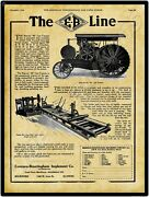 1916 Emerson Brantingham Reeves 40 Gas Tractor New Metal Sign Rockford Illinois
