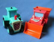Bob The Builder Talking Travis Tractor And Muck Bulldozer Vehicle Car Lot