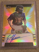 Ethan Hearn 2019 Leaf Metal Gold Refractor Autograph 1/1 Chicago Cubs Mobile,al