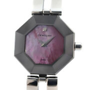Century 802.7.s.35.11.sb Lucky Eight Time Gem Watches Silver/pink Women Pi...