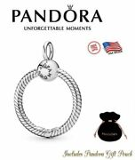 New Authentic S925 Ale Sterling Silver Pandora Moments Medium O Pendant 398256