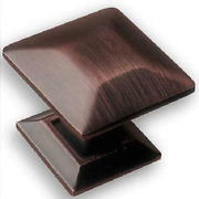 Southern Hills Oil Rubbed Bronze Cabinet Knobs - Pack Of 5 - Square Craftsman St