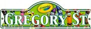 Crayola Street Sign Personalized Gregory St Kids Room Sign Stocking Stuffer
