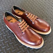 Stussy Deluxe Bepositive Leather Shoes Brown Vibram 10 New Rare Hard To Find
