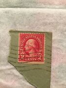 Us Postage Stamp George Washington Two Cent 2andcent Red Stamp Rare Used