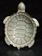 9.2 Chinese Antiques Longquan Open Film Turtle Type Pen Wash