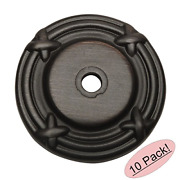 10 Pack - Cosmas 9468orb Oil Rubbed Bronze Cabinet Hardware Knob Backplate/back