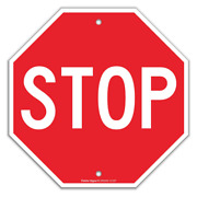 Stop Sign Street Slow Warning Reflective Signs 12 X 12 Inches Octagon.040 Rust