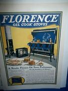 Great Antique Magazine Ad For Florence Oil Cook Stoves