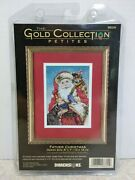 1999 Dimensions Gold Collection Petites 5x7 Father Christmas Cross Stitch Santa