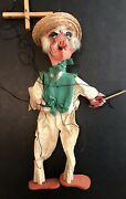 Vintage Mexican Folk Art Hombres Marionette String Puppets Incredible Antique 4