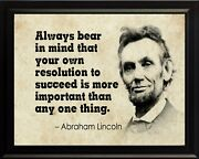 Abraham Lincoln Always Bear In Poster Print Picture Or Framed Wall Art