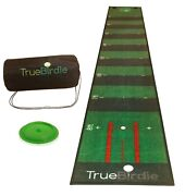 Indoor Putting Green And Golf Mat With Travel Bag + Putt Alignment 10ft X 16in