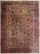 Estate Antique Rug Mohajeran Rug Rare 9x12 Wool Gold 274cmx365cm C.1890 9and039x12and039
