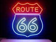 Historic Route 66 Neon Light Sign 20x16 Lamp Beer Gift Bar Glass Decor Wall