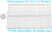 Bbq Cooking Grid Grates 16 1/4 Stainless Steel 3pcs For Backyard Grill Uniflame