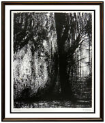 Henry Moore Original Lithograph Hand Signed Abstract The Forest Landscape Art