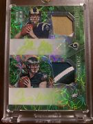 2016 Panini Spectra 2x Rpa Jared Goff-carson Wentz Andrsquod 10/10 6 Color Patch