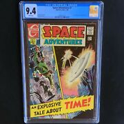 Space Adventures 2 💥 Cgc 9.4 Nm 💥 Only 2 Higher Sci-fi Charlton Comics 1968