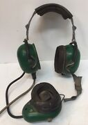 Vintage David Clark Straightaway Headset And Mouthpiece 372-8 For Parts Or Repair