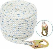 5/8and039and039 100ft Fall Protection Vertical Lifeline Life Line Rope For Climbing Boat
