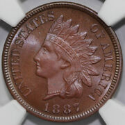 1887 1c Proof Indian Head Cent Ngc Pf 66 Bn