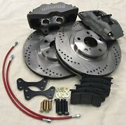 Big Brake Kit Fits Ford Contour 1995-2000 13 4 Piston Wilwood Calipers Front