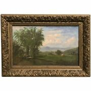 19th C White Mountain School Landscape Oil Painting, Possibly Moat Mountain