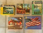 Vtg Guild Picture Jigsaw Puzzle Lot Complete W/box 304-500 Pieces Very Nice