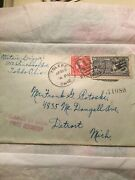 Us George Washington Red Two Cent 2andcent Stamp 10andcent Special Delivery Stamp Cover