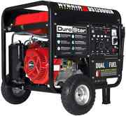 Durostar Ds12000eh 12,000-w Portable Dual Fuel Gas Generator With Electric Start