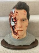 Terminator 2 - T-800 Life Size 11 Silicone Bust - Arnold Sfx